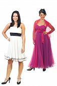 Fashionable Models In Elegant Dresses
