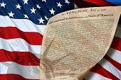 Liberty Flag And Declaration