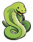 Cute cobra snake
