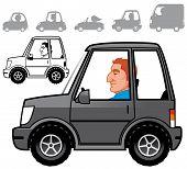Cartoon Vehicles Series