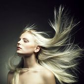 pic of hair motion  - Photo of beautiful woman with magnificent hair - JPG