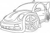 picture of beetle car  - vector  - JPG
