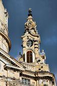 Frauenkircke Steeple In Dresden, Germany