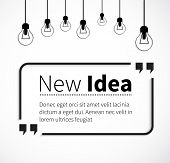 Постер, плакат: Phrase New Idea in Isolation Quotes