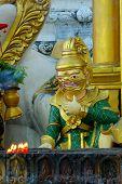 picture of samadhi  - statue in shwedagon paya in yangon myanmar - JPG