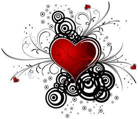 stock photo of valentine heart  - abstract valentine - JPG