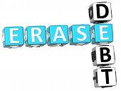 Palavras cruzadas de dívida Erase 3D