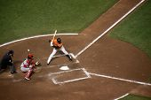 Sports Baseball batter misses the ball, Editorial Use Only