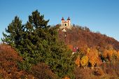 pic of banska  - Autumn Calvary in Banska Stiavnica monuments UNESCO - JPG