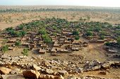 stock photo of dogon  - A horizontal overview of a Dogon village in Mali - JPG