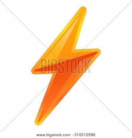 poster of Vibrant Lightning Bolt Icon. Cartoon Of Vibrant Lightning Bolt Vector Icon For Web Design Isolated O