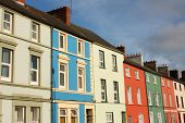 Row of colorful Irish houses, Cork, Ireland