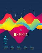 Cover Design Template. Abstract Background With Color Gradient. Applicable For Placards, Flyers, Ban poster