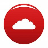 Bottom Cloud Icon. Simple Illustration Of Bottom Cloud Vector Icon For Any Design Red poster