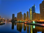 Encantadora noite em Dubai