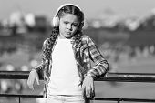 Kid Little Girl Listen Song Headphones. Music Account Playlist. Customize Your Music. Urban Child Le poster