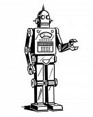 Robot Man - Retro Clipart Illustration