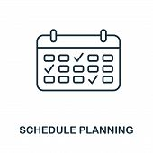 Schedule Planning Outline Icon. Thin Line Concept Element From Business Management Icons Collection. poster