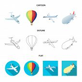 Isolated Object Of Transport And Object Icon. Set Of Transport And Gliding Stock Vector Illustration poster