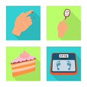 Vector Design Of Symptom And Disease Icon. Collection Of Symptom And Treatment Stock Vector Illustra poster