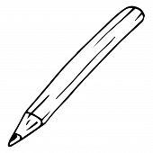 Pencil, Pen Icon. Vector Illustration  Pencil. Hand Drawn Pen, Pencil. poster