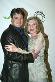 BEVERLY HILLS, CA - MARCH 9: Nathan Fillion and Susan Sullivan arrives at the 2012 Paleyfest