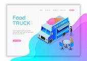 Modern Flat Design Isometric Concept Of Ice Cream Shop For Website And Mobile Website. Street Food T poster