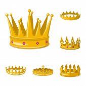 Bitmap Illustration Of Monarchy And Gold Icon. Set Of Monarchy And Heraldic Stock Bitmap Illustratio poster