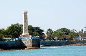Ancient Lighthouse Overlooking The Bay In Diu Gujarat India poster
