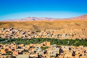 Valley With Traditional Moroccan Houses In Boumalne Dades In Morocco poster