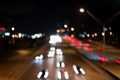 Defocused Speed Background. Blur Night Life. Illumination. Abstract Urban Night Light Defocused Back poster