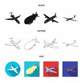 Isolated Object Of Transport And Object Icon. Collection Of Transport And Gliding Stock Symbol For W poster