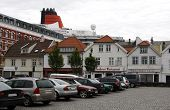 STAVANGER, NORWAY - CIRCA JULY 2010. QUEEN VICTORIA BEHIND THE BUILDINGS. EDITORIAL USE!