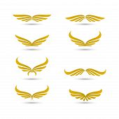 Vector Wings Logo Collection,wing Logo Company, Flying Wing Icon, Eagle Wing Logotype, Eagle Brand,f poster