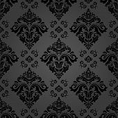 Classic Seamless Pattern. Damask Orient Ornament. Classic Vintage Dark Background poster