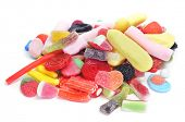 picture of goodies  - a pile of candies on a white background - JPG