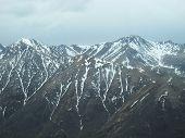 Vista aérea do Alasca mtns.