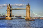London Tower Bridge landmark River Thames poster