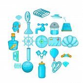 Innovations Icons Set. Cartoon Set Of 25 Innovations Icons For Web Isolated On White Background poster