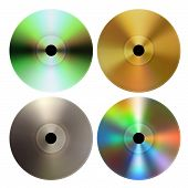 Vector CD and DVD Discs