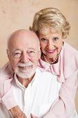 Studio portrait of a beautiful senior couple in love.