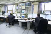 MOSCOW - SEP 22: Dispatchers work in Sheremetyevo airport on Sep 22, 2011 in Moscow, Russia. In Mosc