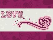 Valentine's Day Card Vector Illustration