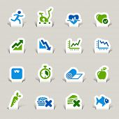 Paper Cut - Health and Fitness icons