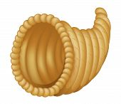 pic of cornucopia  - Illustration depicting an empty cornucopia wicker basket - JPG