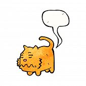 image of farting  - cartoon farting cat - JPG