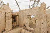 Hagar Qim Megalithic Temple In Malta