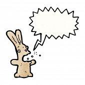 cartoon shouting bunny rabbit