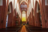 WROCLAW, POLAND - DECEMBER 29: St. Mary Magdalene Church interior on December 29, 2012 in Wroclaw, P