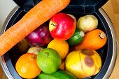 Bin Full Of Fruit And Vegetables